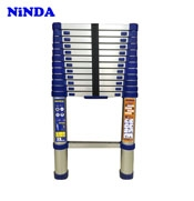 Thang nhôm rút Ninda NK-48 màu xanh, cao 4m8