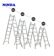 Thang nhôm Ninda ND-207 gấp chữ A