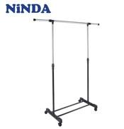 Giá phơi quần áo đơn NiNDA R117 cao cấp có bánh xe