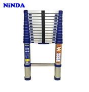 Thang nhôm rút Ninda NK-38 màu xanh, cao 3m8